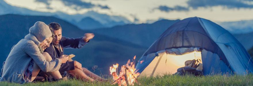 camping en plein cœur de la nature